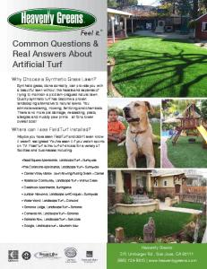 Common Questions & Real Answers About Artificial Turf