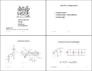 Common Source Common Source Small Signal