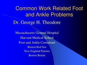 Common Work Related Foot and Ankle Problems