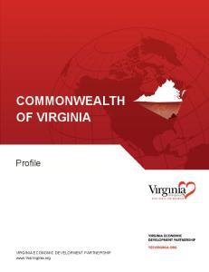 COMMONWEALTH OF VIRGINIA