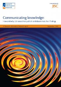 Communicating knowledge: