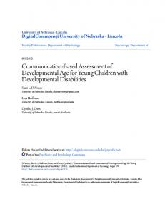 Communication-Based Assessment of Developmental Age for Young Children with Developmental Disabilities