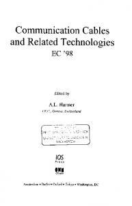 Communication Cables and Related Technologies