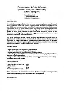 Communication & Cultural Contexts (Media, Culture, and Globalization) Syllabus Spring 2012