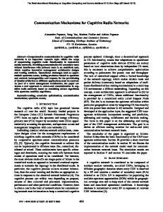 Communication Mechanisms for Cognitive Radio Networks