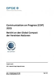 Communication on Progress (COP) 2015