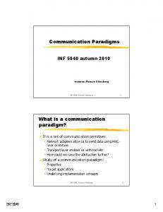 Communication Paradigms. What is a communication paradigm?