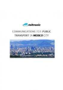 COMMUNICATIONS FOR PUBLIC TRANSPORT IN MEXICO CITY