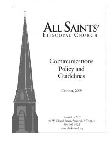 Communications Policy and Guidelines
