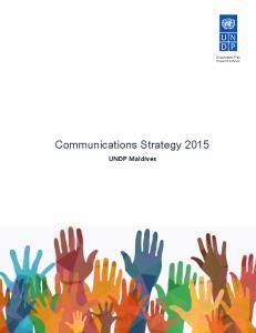 Communications Strategy UNDP Maldives
