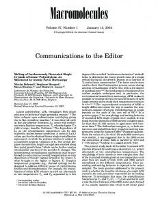 Communications to the Editor