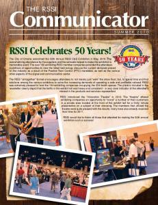 Communicator. RSSI Celebrates 50 Years!