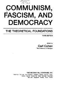 ^COMMUNISM, FASCISM, AND DEMOCRACY