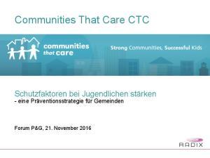 Communities That Care CTC