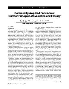 Community-Acquired Pneumonia: Current Principles of Evaluation and Therapy
