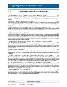 Community and Leadership Development