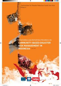 COMMUNITY-BASED DISASTER RISK MANAGEMENT IN INDONESIA