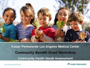 Community Benefit Grant Workshop