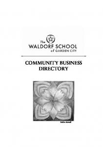 COMMUNITY BUSINESS DIRECTORY