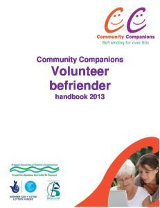 Community Companions Volunteer befriender handbook 2013