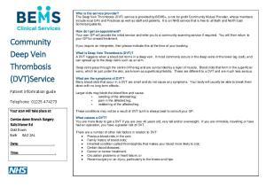 Community Deep Vein Thrombosis (DVT)Service