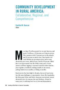 Community Development in Rural America: