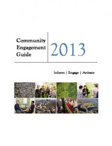 Community Engagement Guide Inform Engage Activate