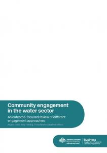 Community engagement in the water sector. An outcome-focused review of different engagement approaches