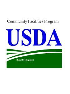 Community Facilities Program. Rural Development