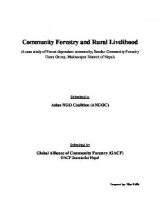 Community Forestry and Rural Livelihood