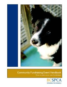 Community Fundraising Event Handbook How to plan your own fundraiser