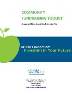 COMMUNITY FUNDRAISING TOOLKIT Component State Association & Membership