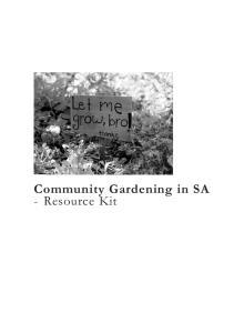 Community Gardening in SA - Resource Kit