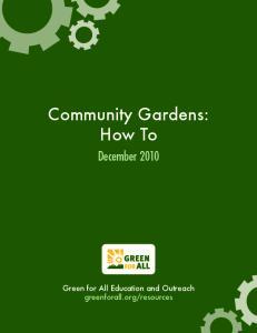 Community Gardens: How To