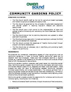 COMMUNITY GARDENS POLICY