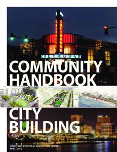 COMMUNITY HANDBOOK. for CITY BUILDING