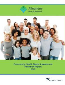 Community Health Needs Assessment 2016 Report