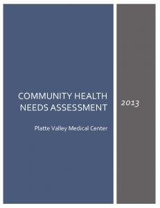 COMMUNITY HEALTH NEEDS ASSESSMENT. Platte Valley Medical Center