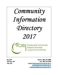 Community Information Directory 2017