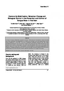 Community Mobilization, Behaviour Change and Biological Control in the Prevention and Control of Dengue Fever in Viet Nam
