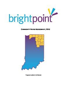 Community Needs Assessment, 2016