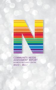 community needs assessment report