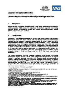 Community Pharmacy Domiciliary Smoking Cessation