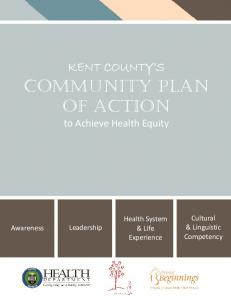 COMMUNITY PLAN OF ACTION to Achieve Health Equity