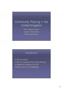 Community Policing in the United Kingdom