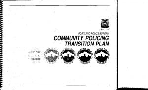 COMMUNITY POLICING TRANSITION PLAN