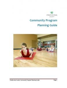 Community Program Planning Guide