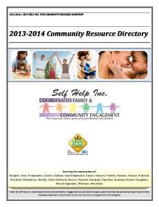 Community Resource Directory