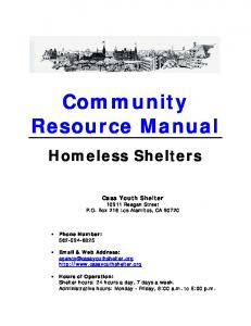 Community Resource Manual