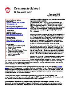 Community School E- Newsletter February 2010 Volume 4 Issue 2